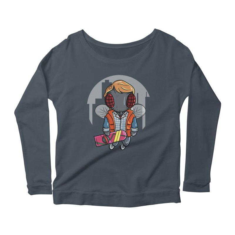 Marty McFly Women's Scoop Neck Longsleeve T-Shirt by mebzart's Artist Shop