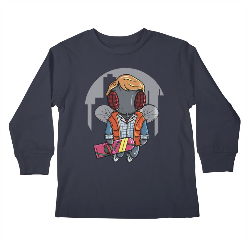 Marty McFly Kids Longsleeve T-Shirt by mebzart's Artist Shop