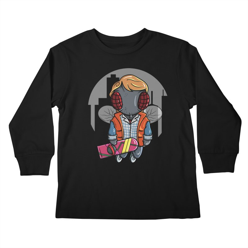 Marty McFly Kids Longsleeve T-Shirt by mebzart's Artist Shop