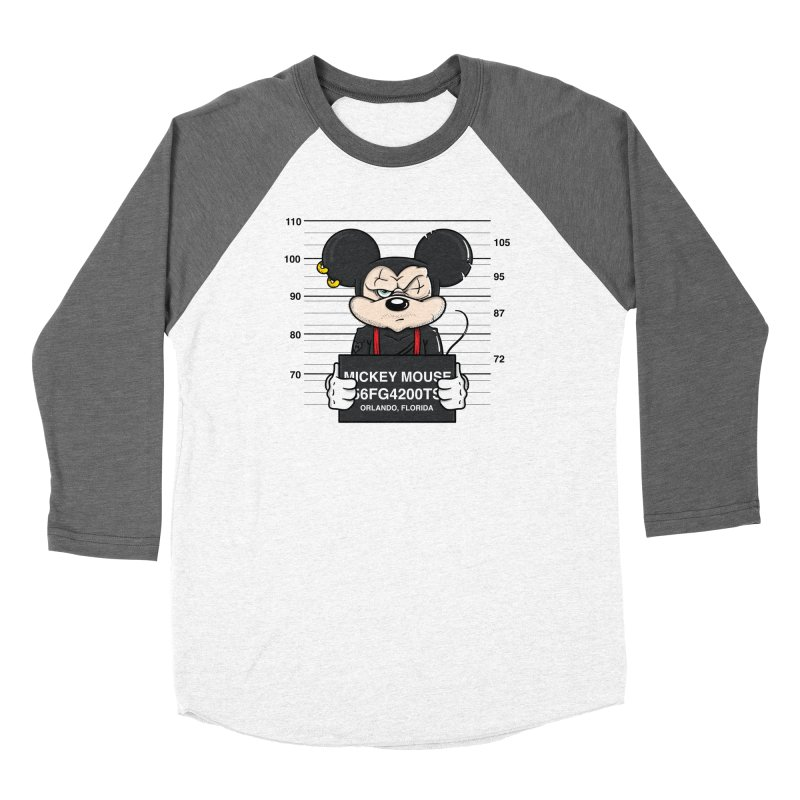Mickey Mouse - Bad Guys Men's Baseball Triblend Longsleeve T-Shirt by mebzart's Artist Shop