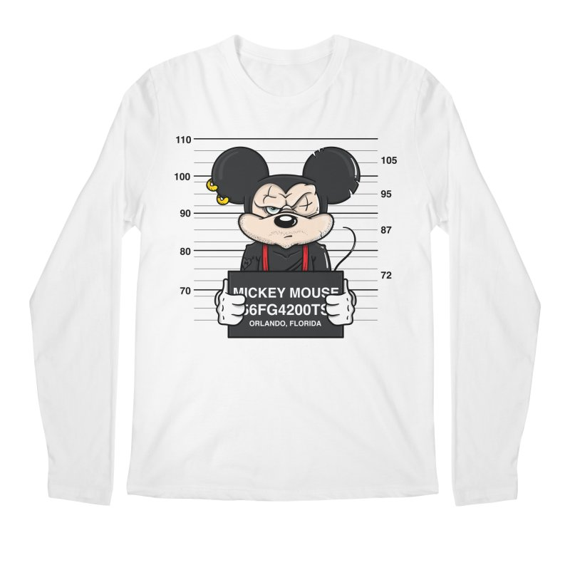 Mickey Mouse - Bad Guys Men's Regular Longsleeve T-Shirt by mebzart's Artist Shop