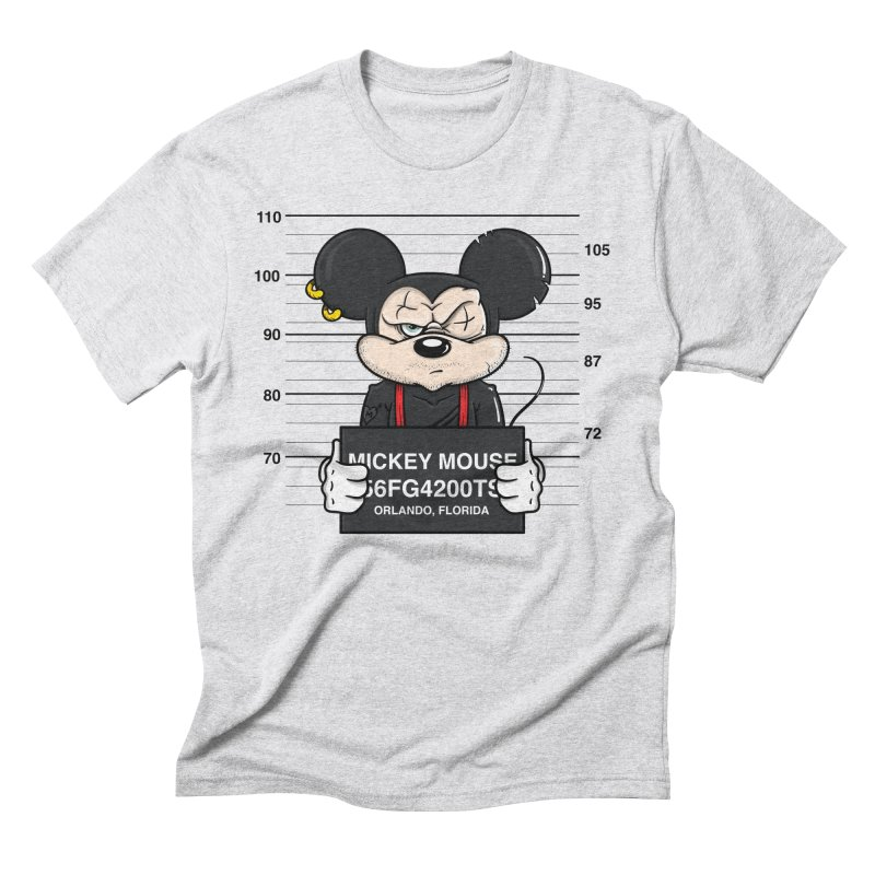 Mickey Mouse - Bad Guys in Men's Triblend T-Shirt Heather White by mebzart's Artist Shop