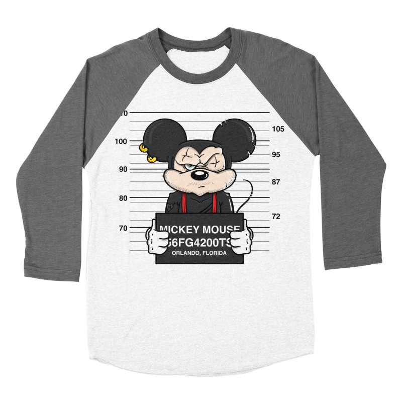 Mickey Mouse - Bad Guys Men's Baseball Triblend T-Shirt by mebzart's Artist Shop