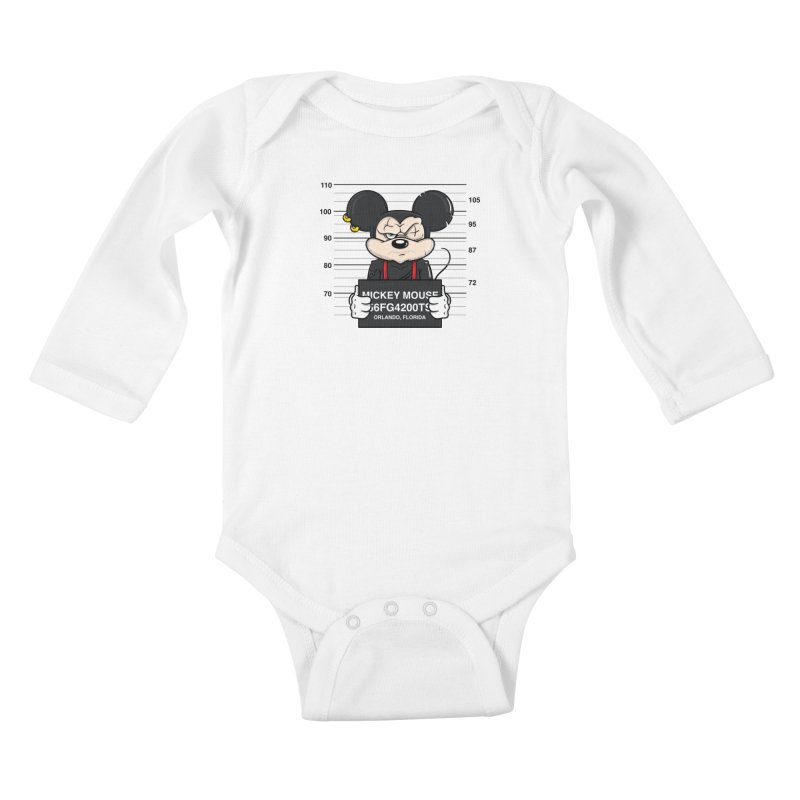 Mickey Mouse - Bad Guys Kids Baby Longsleeve Bodysuit by mebzart's Artist Shop