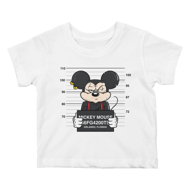 Mickey Mouse - Bad Guys Kids Baby T-Shirt by mebzart's Artist Shop