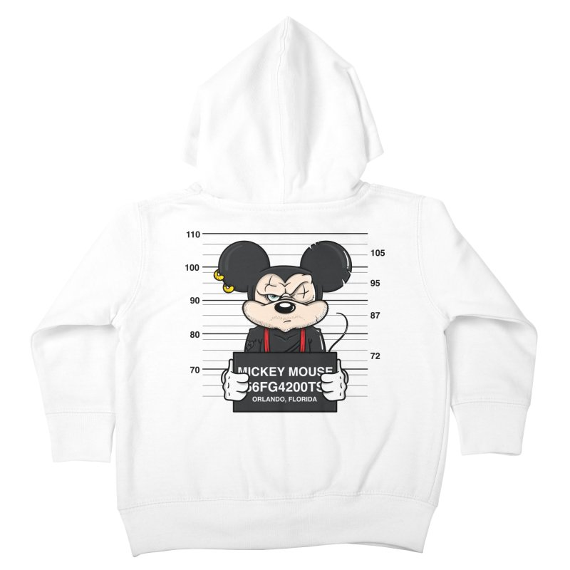 Mickey Mouse - Bad Guys Kids Toddler Zip-Up Hoody by mebzart's Artist Shop