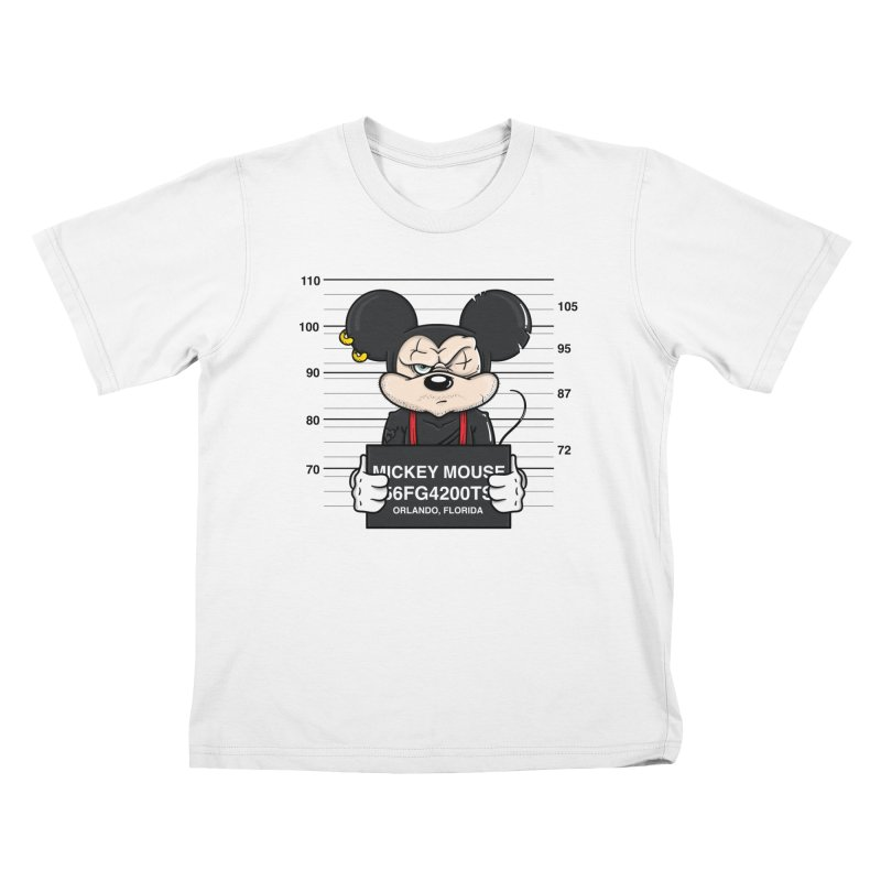 Mickey Mouse - Bad Guys Kids T-Shirt by mebzart's Artist Shop