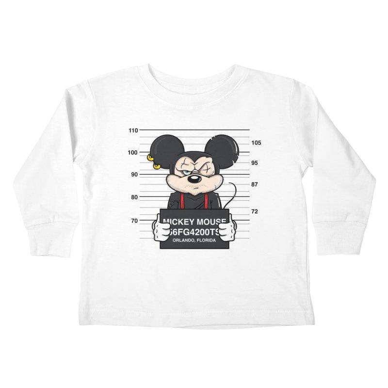 Mickey Mouse - Bad Guys Kids Toddler Longsleeve T-Shirt by mebzart's Artist Shop