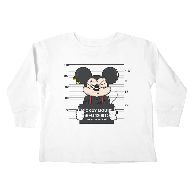 Mickey Mouse - Bad Guys Kids Toddler Longsleeve T-Shirt by mebzart's Artist Shop