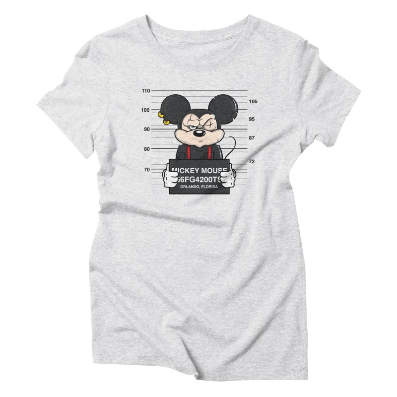 Mickey Mouse - Bad Guys Women's T-Shirt by mebzart's Artist Shop