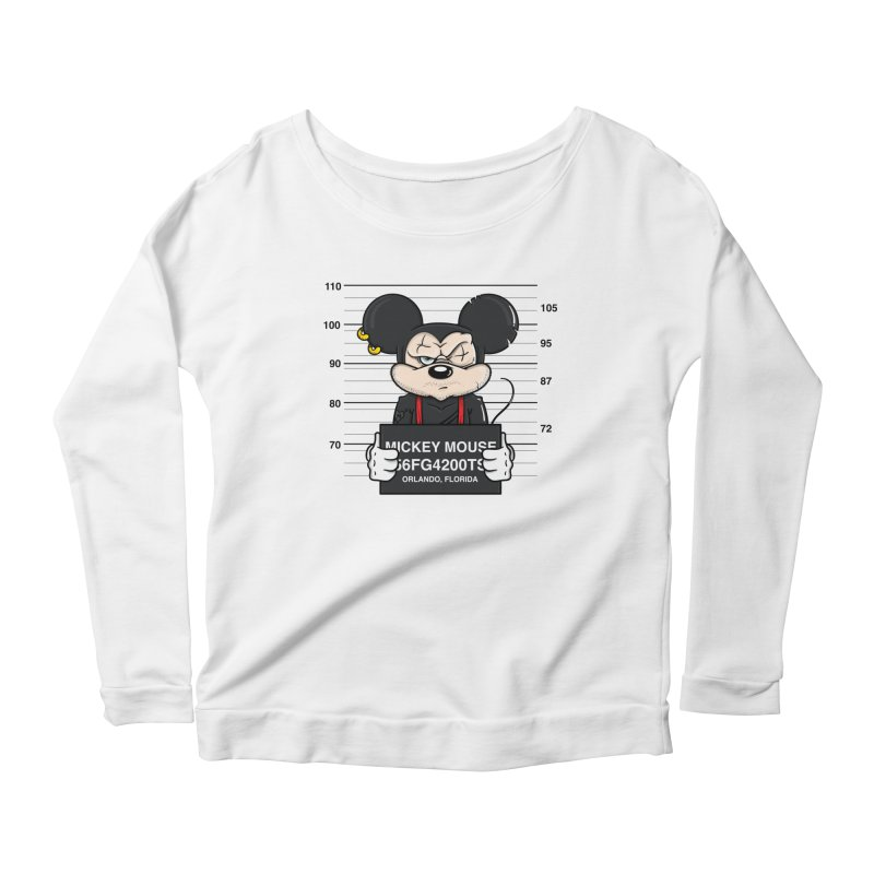 Mickey Mouse - Bad Guys Women's Scoop Neck Longsleeve T-Shirt by mebzart's Artist Shop