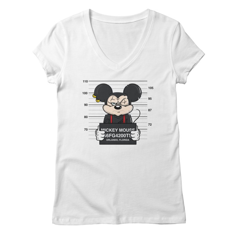 Mickey Mouse - Bad Guys Women's V-Neck by mebzart's Artist Shop