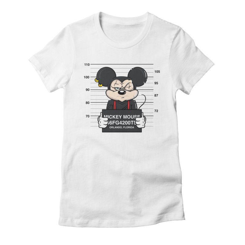 Mickey Mouse - Bad Guys Women's Fitted T-Shirt by mebzart's Artist Shop