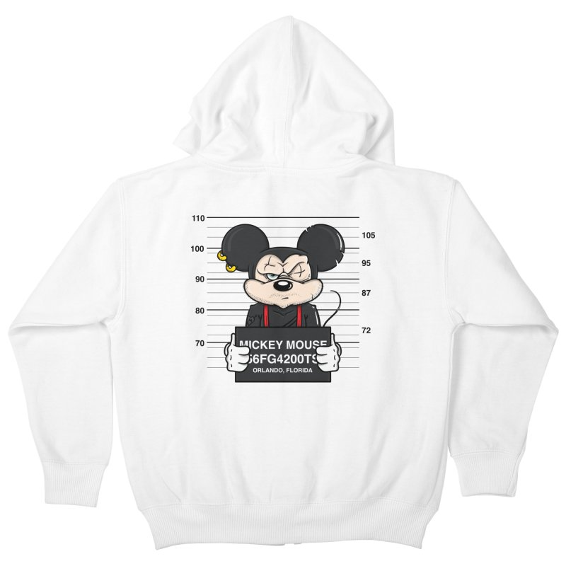 Mickey Mouse - Bad Guys Kids Zip-Up Hoody by mebzart's Artist Shop