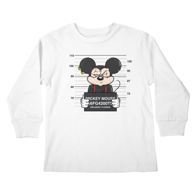 Mickey Mouse - Bad Guys Kids Longsleeve T-Shirt by mebzart's Artist Shop