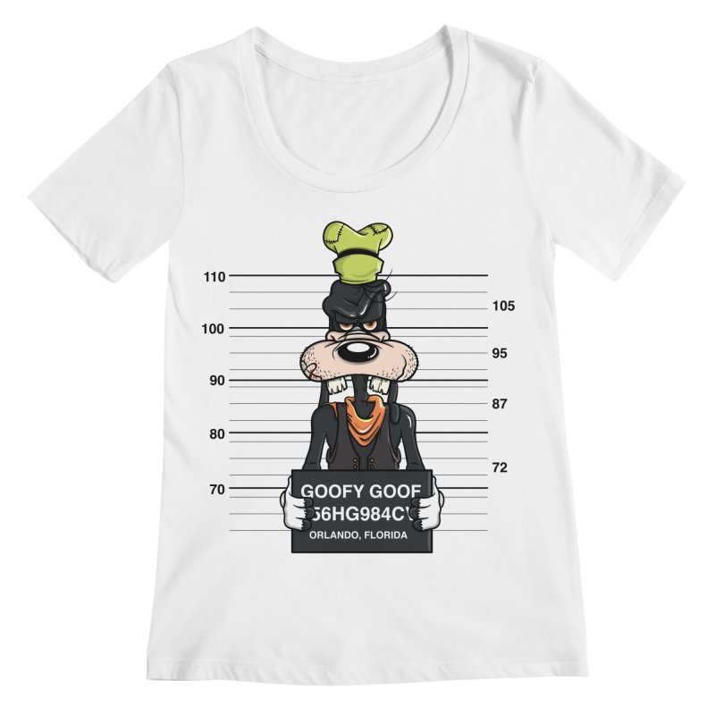 Goofy The Goof - Bad Guys Women's Scoop Neck by mebzart's Artist Shop