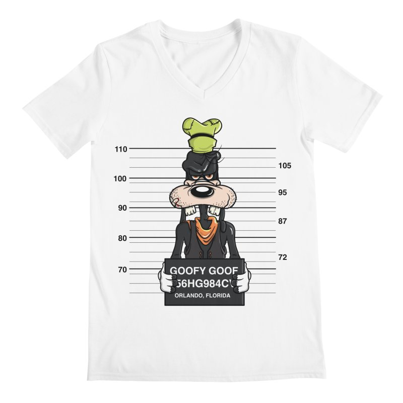 Goofy The Goof - Bad Guys Men's Regular V-Neck by mebzart's Artist Shop