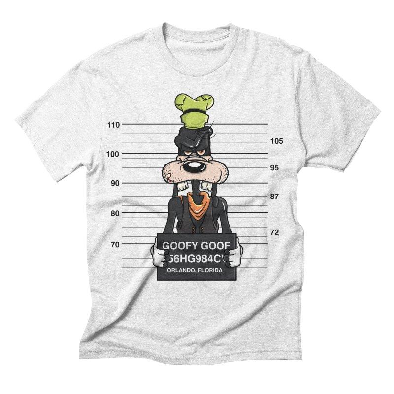 Goofy The Goof - Bad Guys Men's Triblend T-shirt by mebzart's Artist Shop