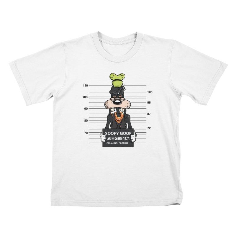 Goofy The Goof - Bad Guys Kids T-Shirt by mebzart's Artist Shop
