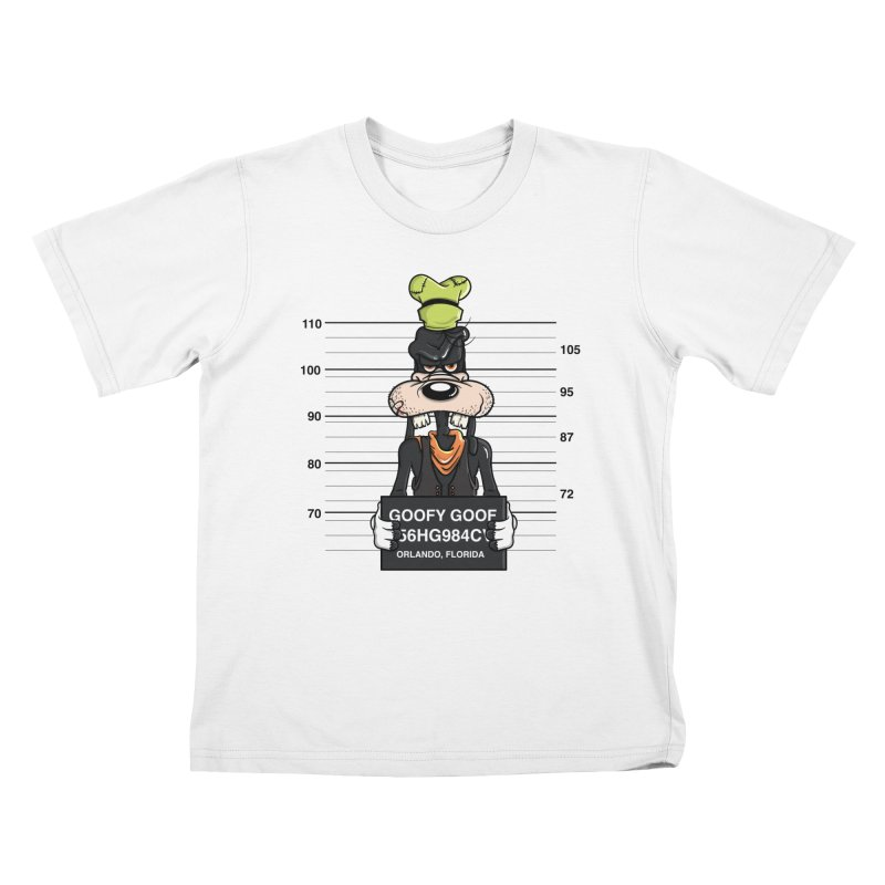 Goofy The Goof - Bad Guys Kids T-Shirt by mebzart's Artist Shop