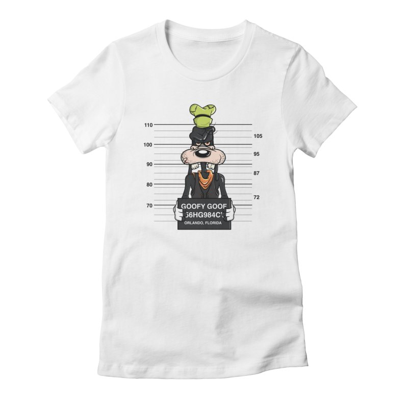 Goofy The Goof - Bad Guys Women's T-Shirt by mebzart's Artist Shop