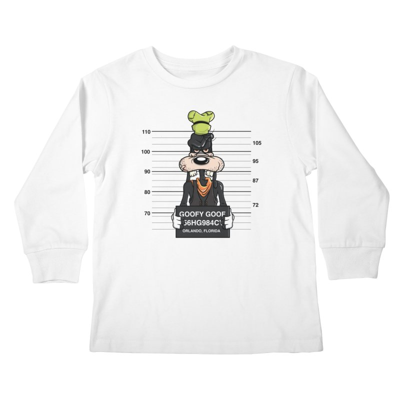 Goofy The Goof - Bad Guys Kids Longsleeve T-Shirt by mebzart's Artist Shop