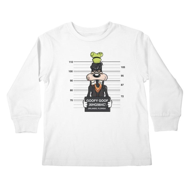 Goofy The Goof - Bad Guys Kids Longsleeve T-Shirt by mebzart's Artist Shop