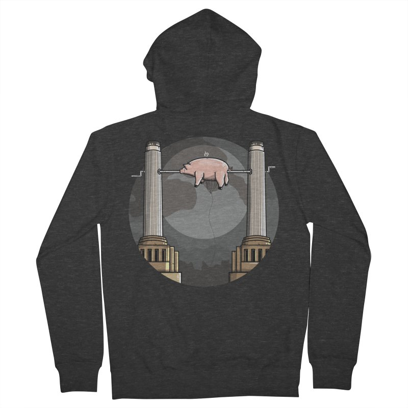 Animals Men's French Terry Zip-Up Hoody by mebzart's Artist Shop
