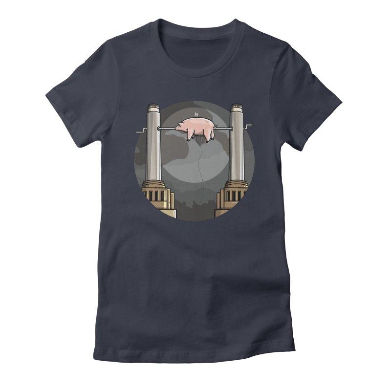 Animals Women's Fitted T-Shirt by mebzart's Artist Shop
