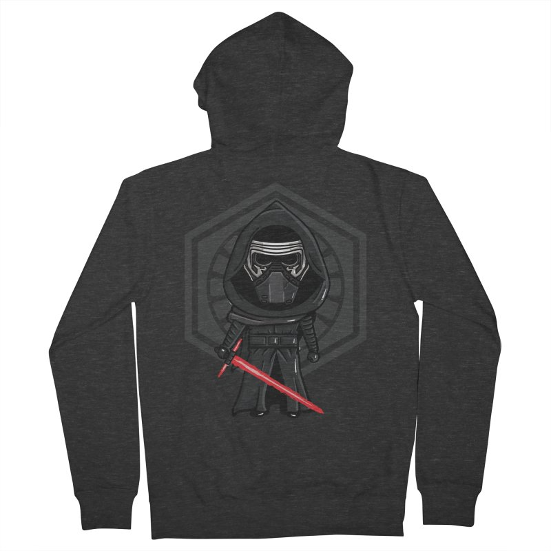 Kylo Ren Women's French Terry Zip-Up Hoody by mebzart's Artist Shop