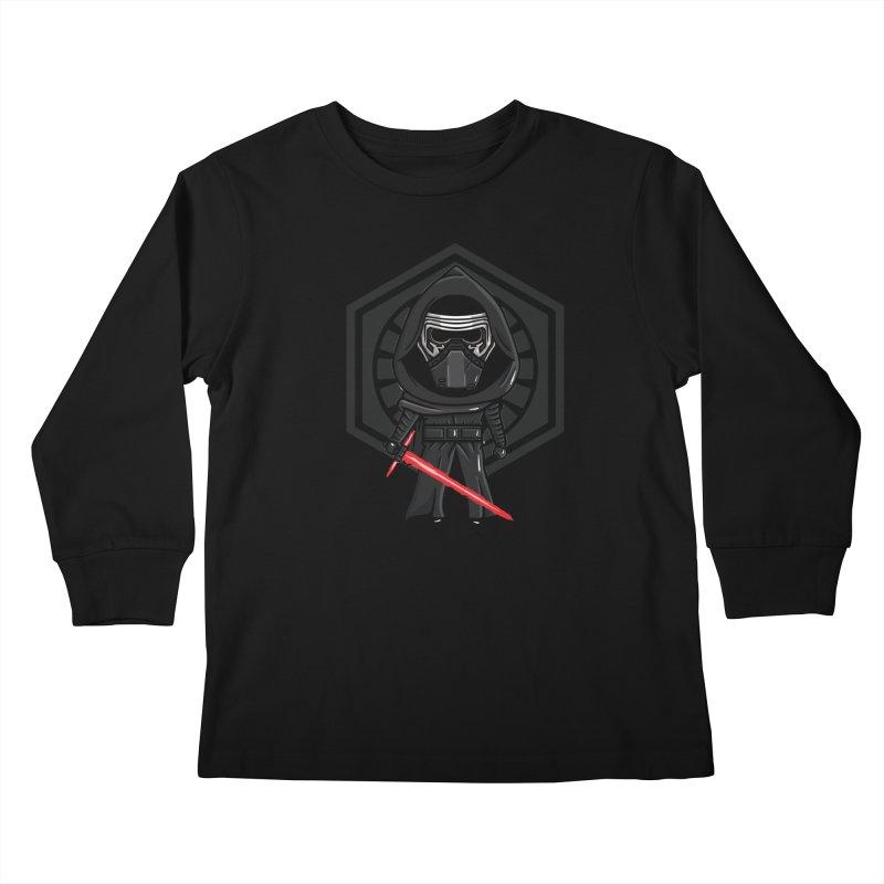 Kylo Ren Kids Longsleeve T-Shirt by mebzart's Artist Shop