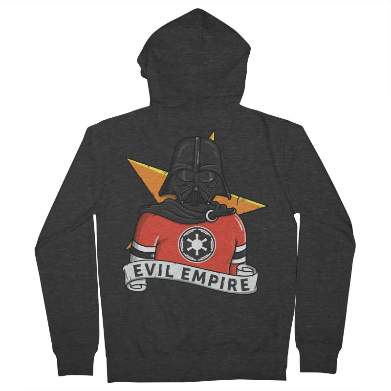 Evil Empire Men's French Terry Zip-Up Hoody by mebzart's Artist Shop