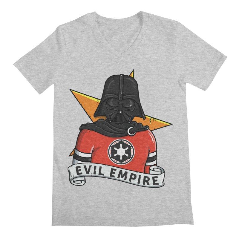 Evil Empire Men's Regular V-Neck by mebzart's Artist Shop