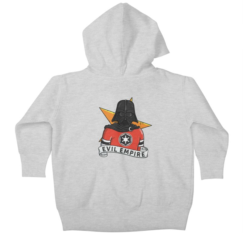 Evil Empire Kids Baby Zip-Up Hoody by mebzart's Artist Shop