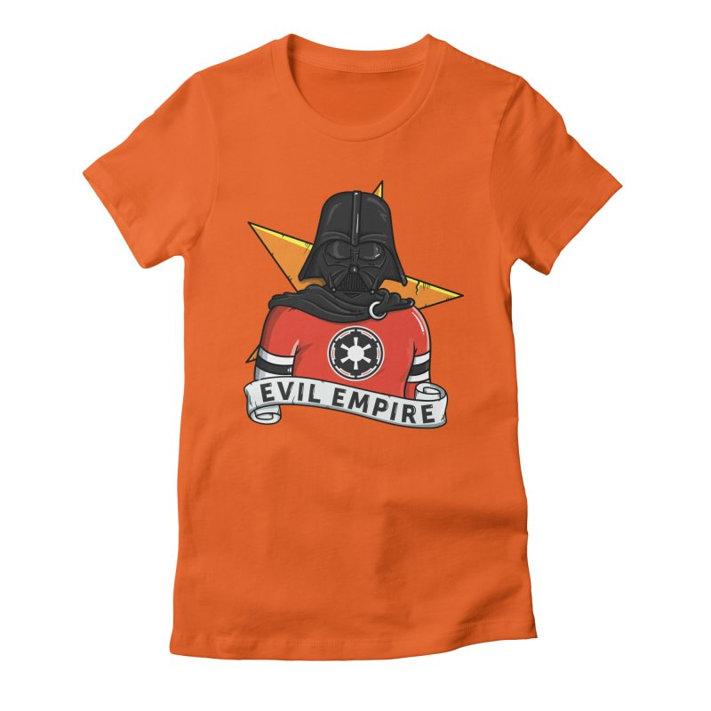 Evil Empire Women's Fitted T-Shirt by mebzart's Artist Shop
