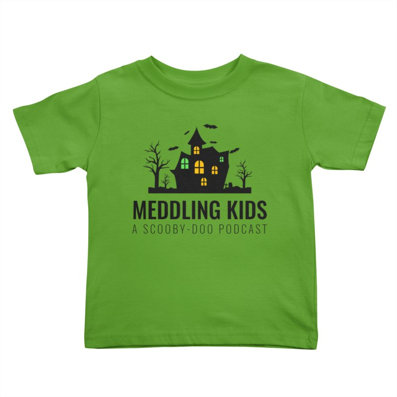Spooky Black Logo Kids Toddler T-Shirt by Ninja Penguin Pods