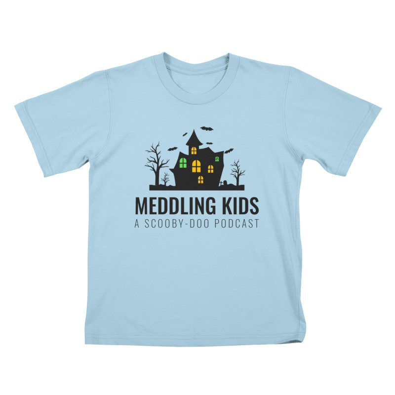 Spooky Black Logo Kids T-Shirt by Ninja Penguin Pods