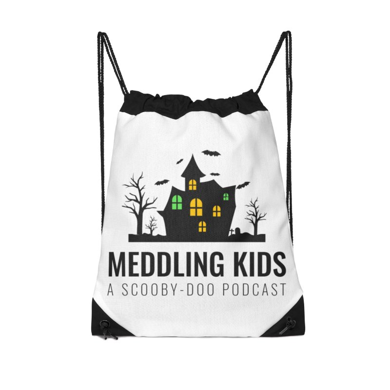 Spooky Black Logo Accessories Drawstring Bag Bag by Ninja Penguin Pods