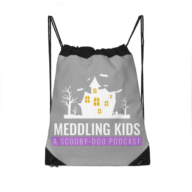 Fancy Schmancy Logo Accessories Drawstring Bag Bag by Ninja Penguin Pods