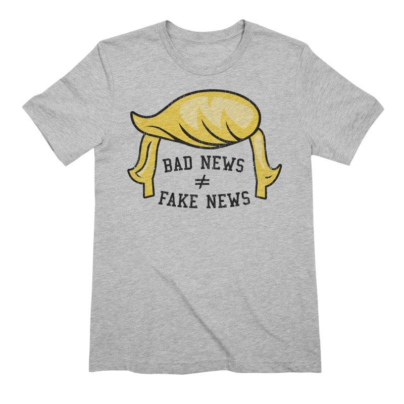 Bad News Fake News Men's T-Shirt by Mediaite's Merchandise Shop