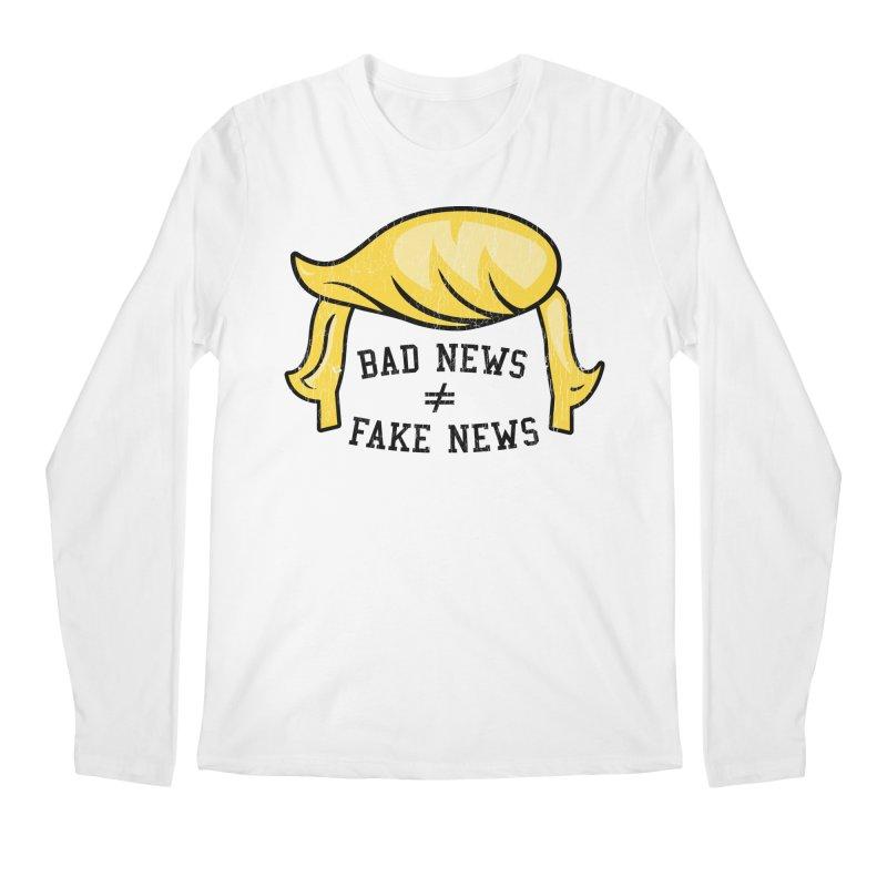 Bad News Fake News Men's Regular Longsleeve T-Shirt by Mediaite's Merchandise Shop