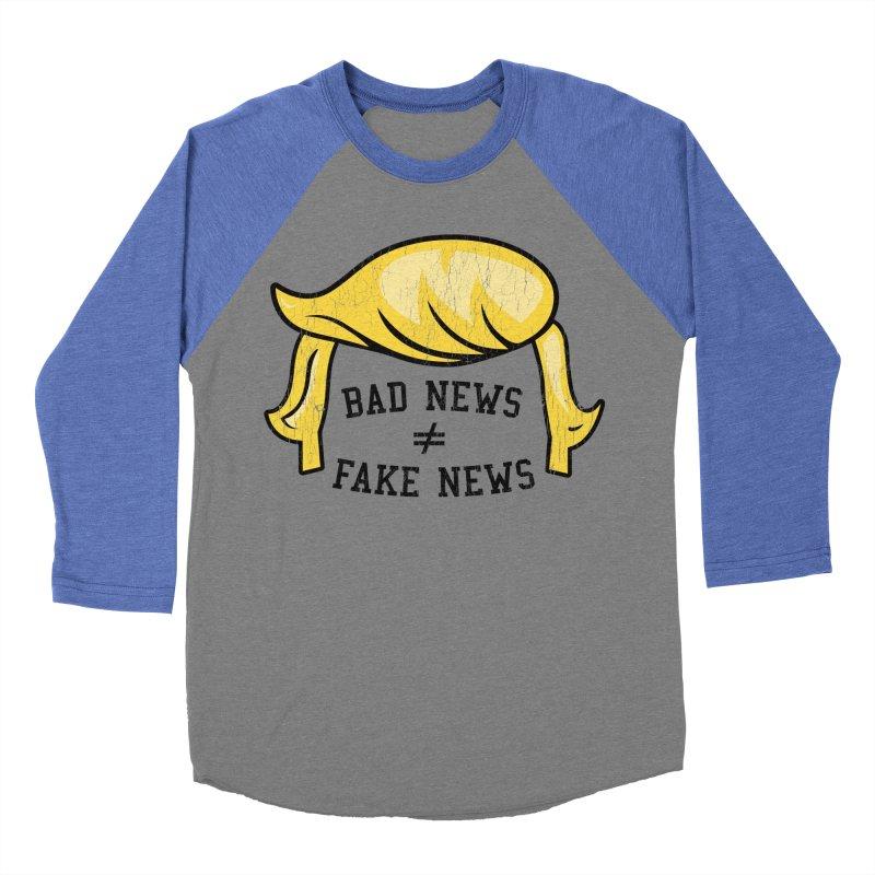 Bad News Fake News Men's Baseball Triblend Longsleeve T-Shirt by Mediaite's Merchandise Shop