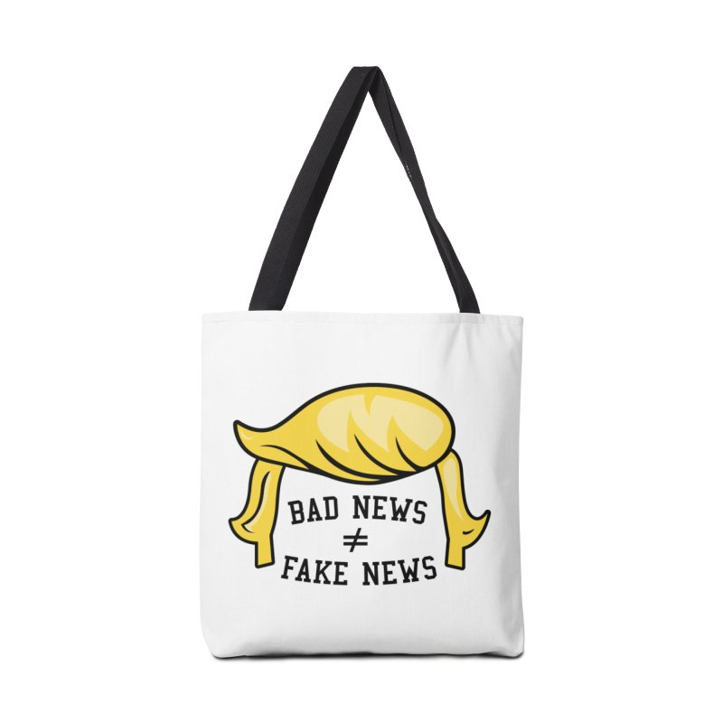 Bad News ≠ Fake News in Tote Bag by Mediaite's Merchandise Shop