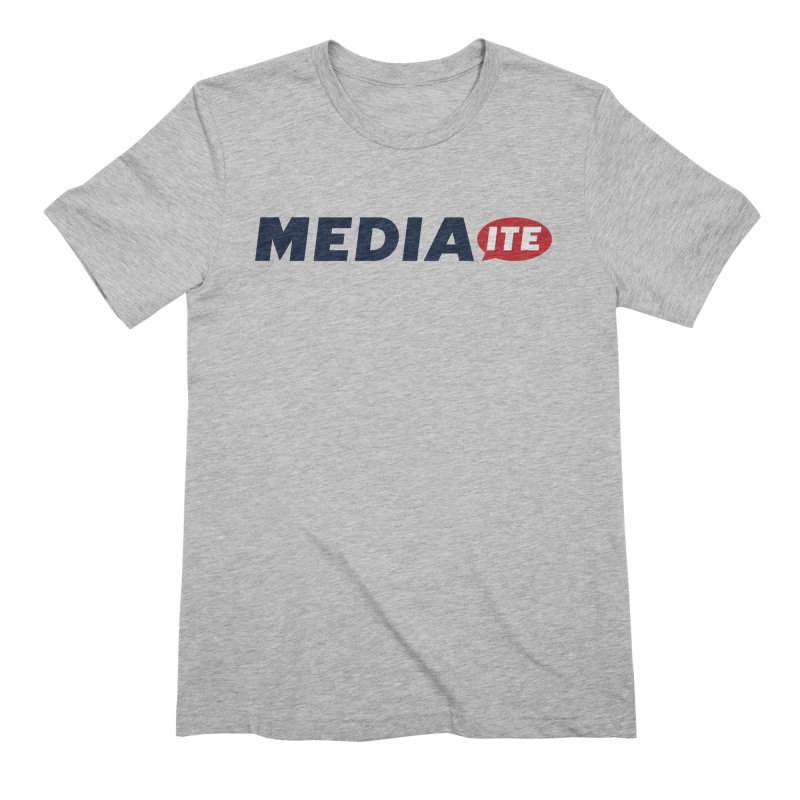 Mediaite in Men's Extra Soft T-Shirt Heather Grey by Mediaite's Merchandise Shop