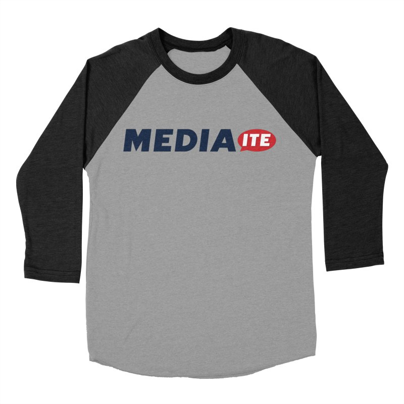 Mediaite Men's Baseball Triblend Longsleeve T-Shirt by Mediaite's Merchandise Shop