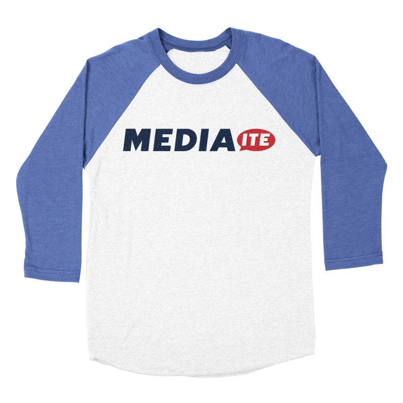 Mediaite Men's Baseball Triblend Longsleeve T-Shirt by Mediaite's Merchandise Shop