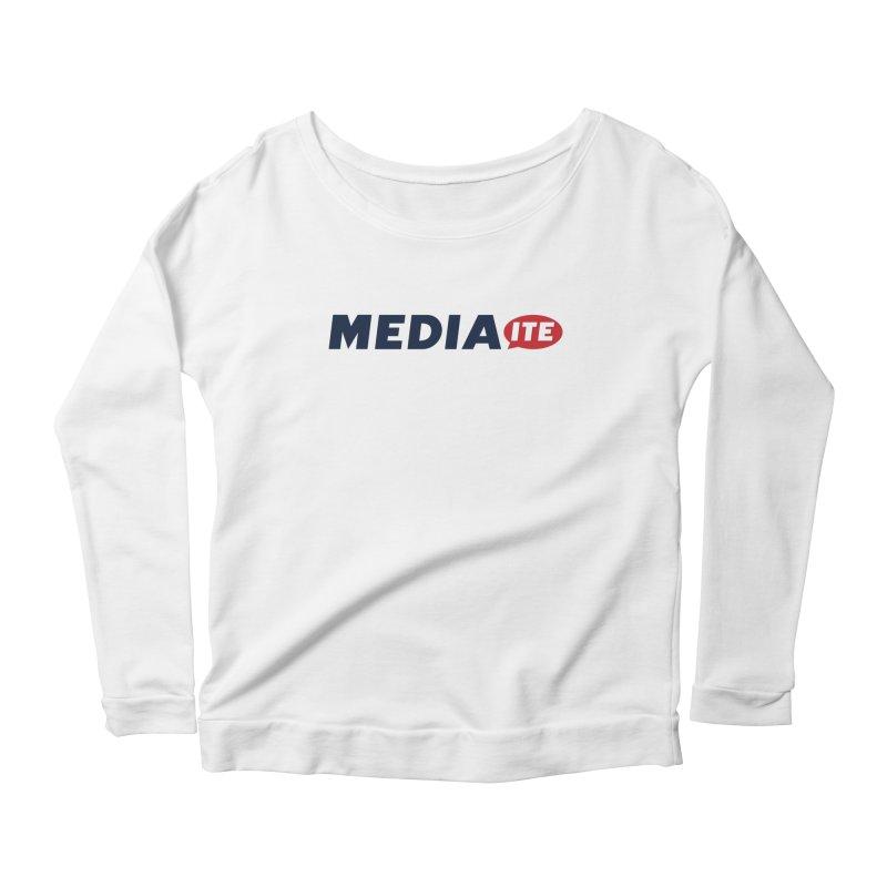 Mediaite Women's Scoop Neck Longsleeve T-Shirt by Mediaite's Merchandise Shop