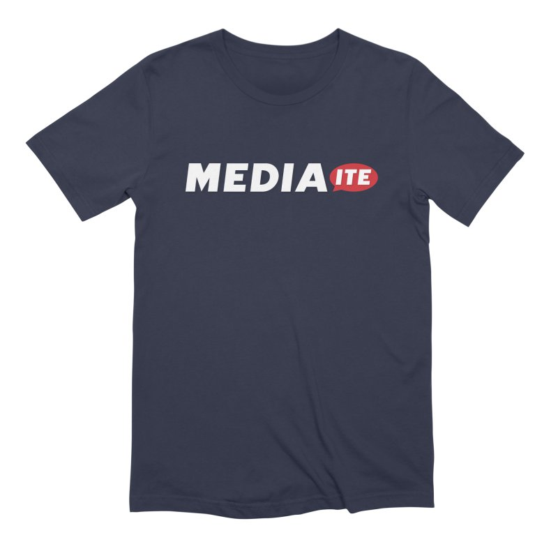 Mediaite Contrast in Men's Extra Soft T-Shirt Navy by Mediaite's Merchandise Shop