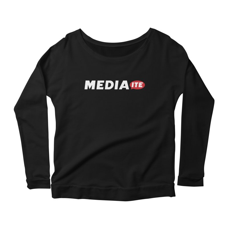 Mediaite Contrast Women's Scoop Neck Longsleeve T-Shirt by Mediaite's Merchandise Shop