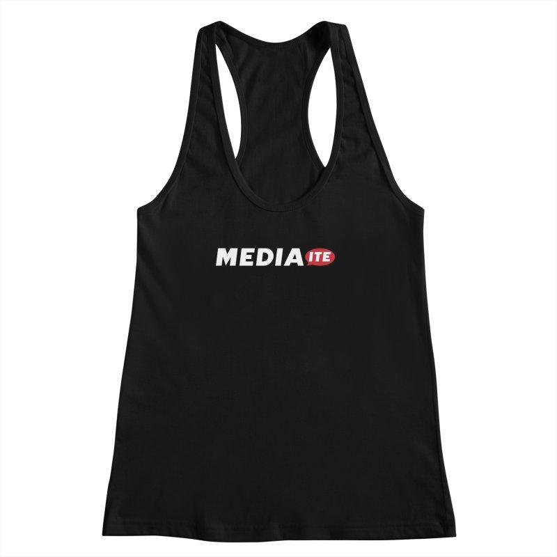 Mediaite Contrast Women's Racerback Tank by Mediaite's Merchandise Shop